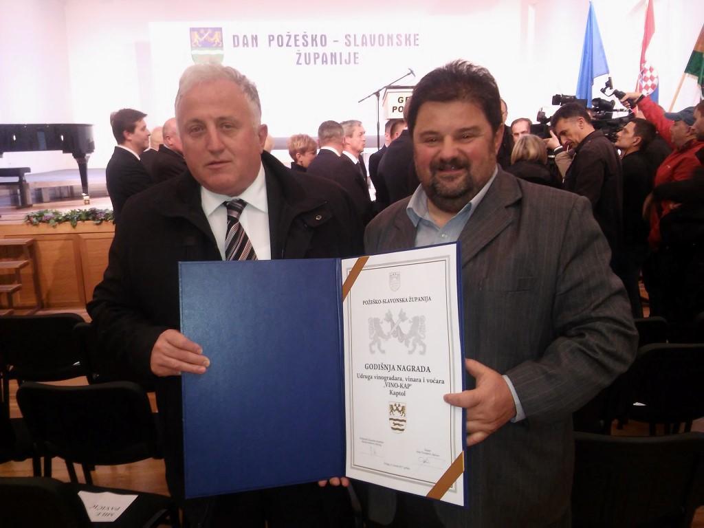 LokalnaHrvatska.hr Kaptol Godisnja nagrada za Udrugu VINO-KAP
