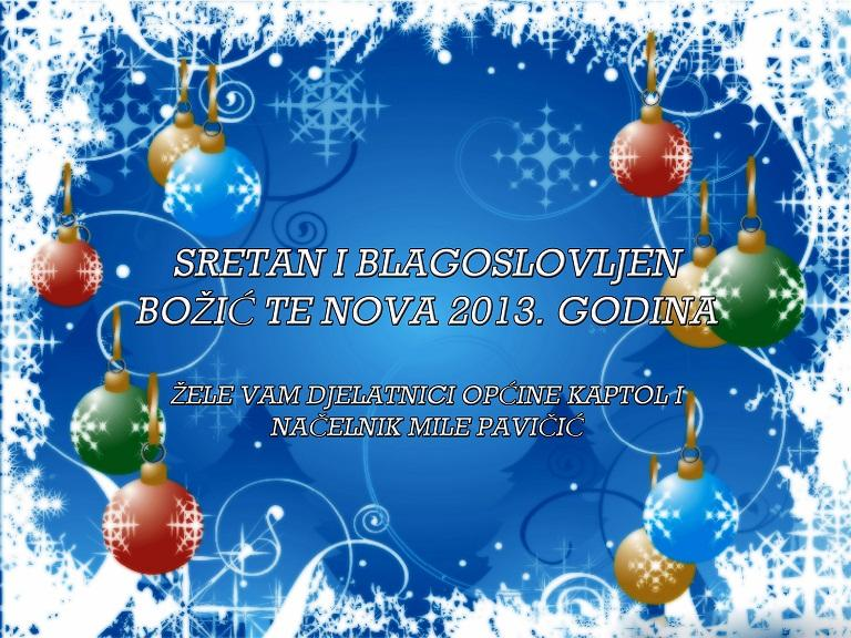 sretan bozic i nova godina cestitke Sretan Božić i Nova godina   Općina Kaptol sretan bozic i nova godina cestitke